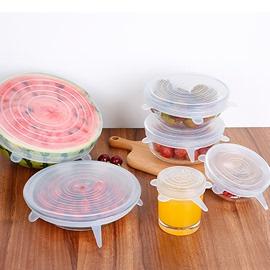 硅胶保鲜盖家用万能碗盖密封冰箱保鲜膜厨房保鲜盖可拉伸硅胶盖