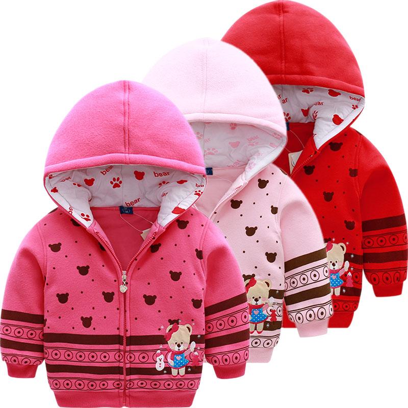 小熊童装女童秋冬季新款保暖棉服