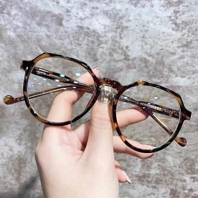 复古近视眼镜女圆框丹阳眼睛近视成品可配度数网红款素颜神器镜架