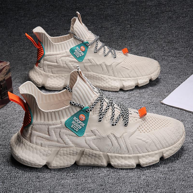 2021春季回力飞织男鞋单层轻便透气软底运动休闲袜子鞋防臭跑步鞋