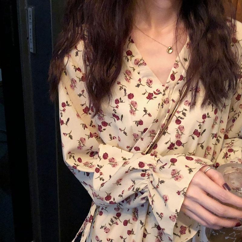 大码女装春装法式复古内搭裙子山本风仙女法国小众过膝胖mm连衣裙