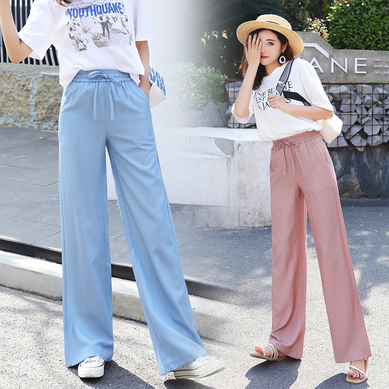 High waisted Tencel jeans womens slim trousers in autumn