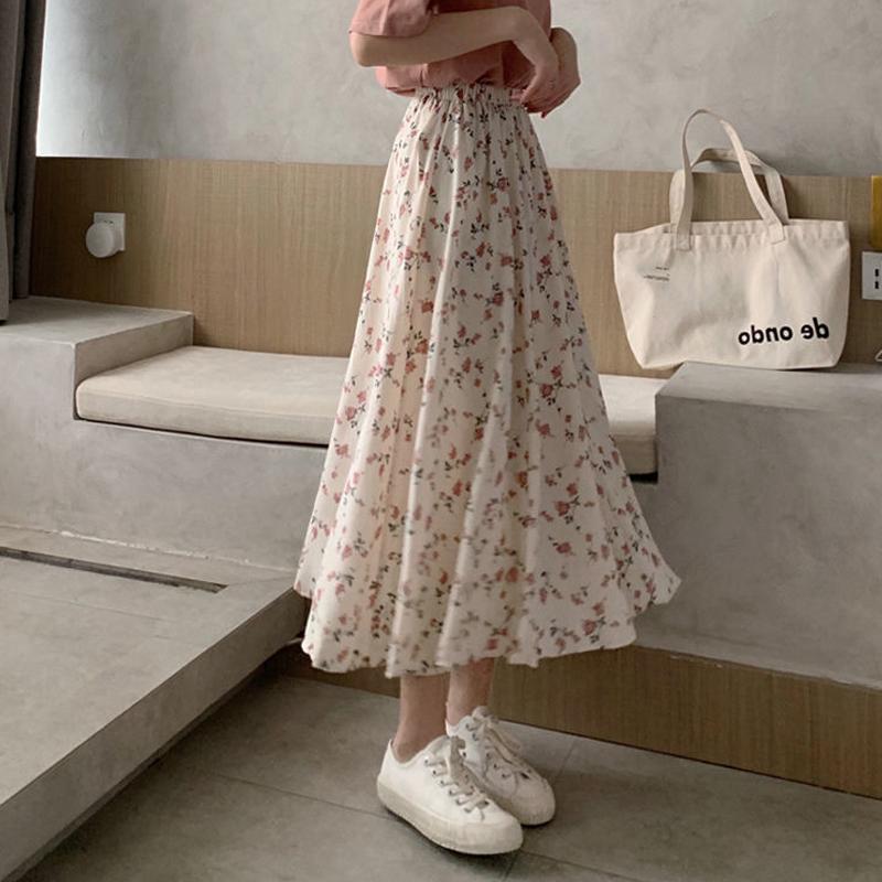 半身裙a字碎花仙女超仙森系仙气小清新显瘦气质长裙子2021年夏天