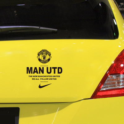 Package mail reflective stickers toyota car sticker rear window sticker champions league football manchester united