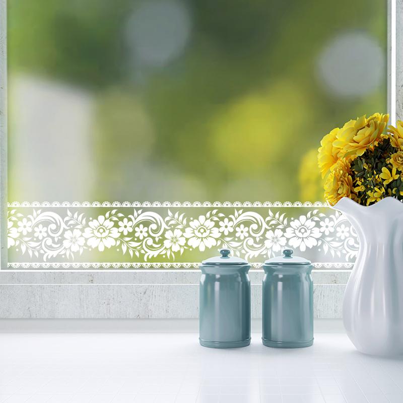 窗花贴条花边花纹防撞墙贴玻璃腰线商铺橱窗玻璃门装饰贴纸镜子贴