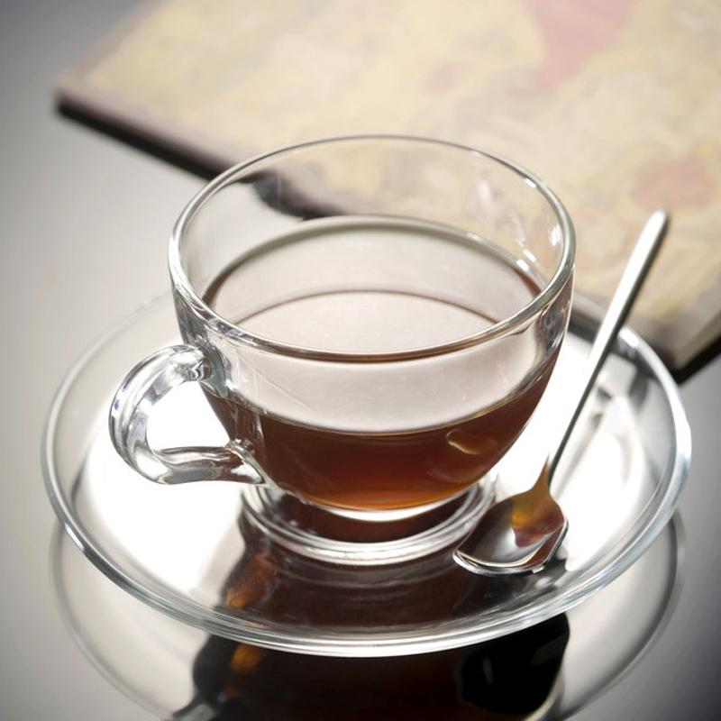 ocean透明玻璃咖啡杯套裝水杯整套帶勺家用歐式簡約耐熱茶杯