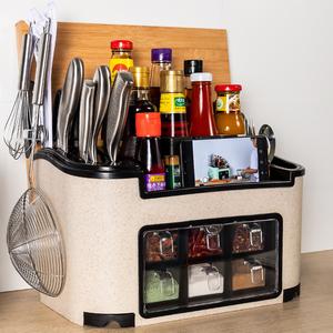 厨房收纳置物架调料盒厨房用品家用大全调味组合套装筷子收纳神器