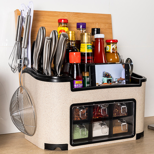 调料盒套装厨房用品用具调味盒调料罐佐料盒糖盐罐厨房收纳盒家用品牌