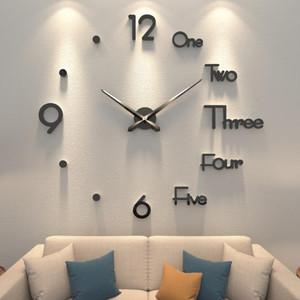 创意diy挂钟客厅时尚艺术免打孔钟表现代简约大气个性挂墙贴时钟