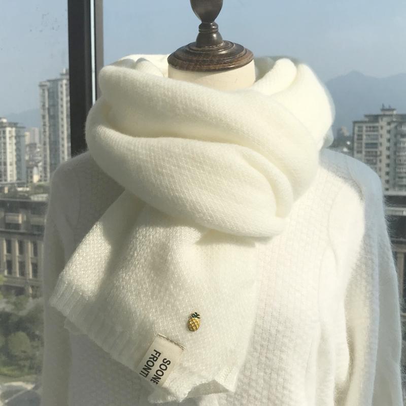 围巾女秋冬季韩版百搭可爱学生ins风少女日系毛线针织保暖围脖男