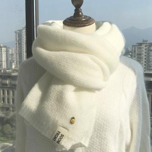 小菠萝围巾女秋冬季韩版百搭可爱学生针织ins少女日系毛线围脖男