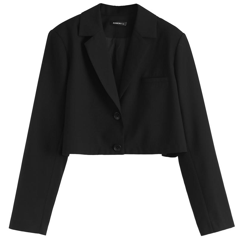 2021新款黑色外套女韩版高腰小西服评测好不好