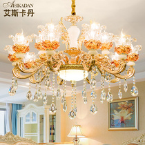 Crystal European chandelier luxury atmosphere living room chandelier simple European restaurant lamp Zinc Alloy Villa Home Bedroom Lighting
