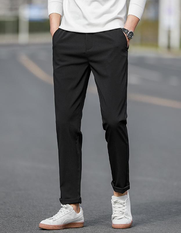 爱马度男士休闲裤长裤宽松修身韩版潮流西装裤夏季薄款直筒男裤子