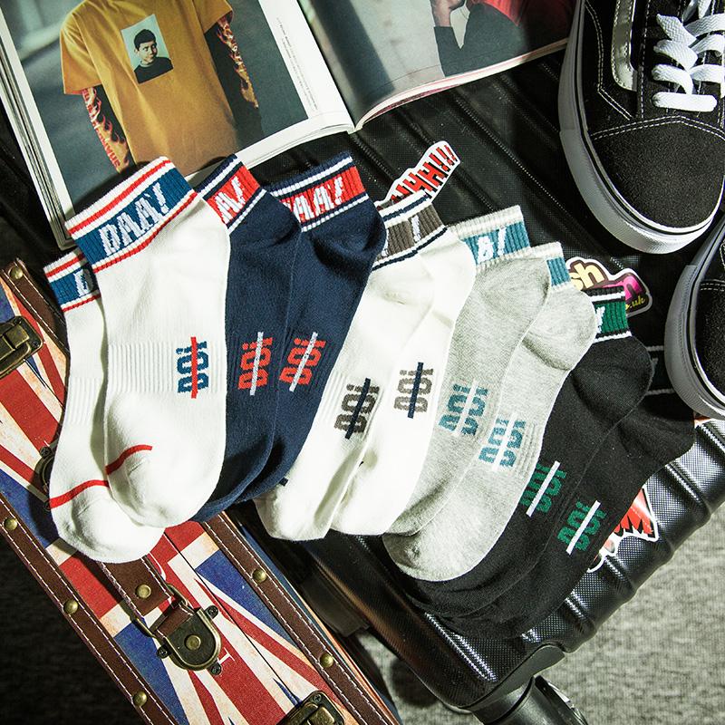 夏天薄款潮牌网红袜子男潮流低帮短袜女ins潮夏季低筒袜纯棉船袜