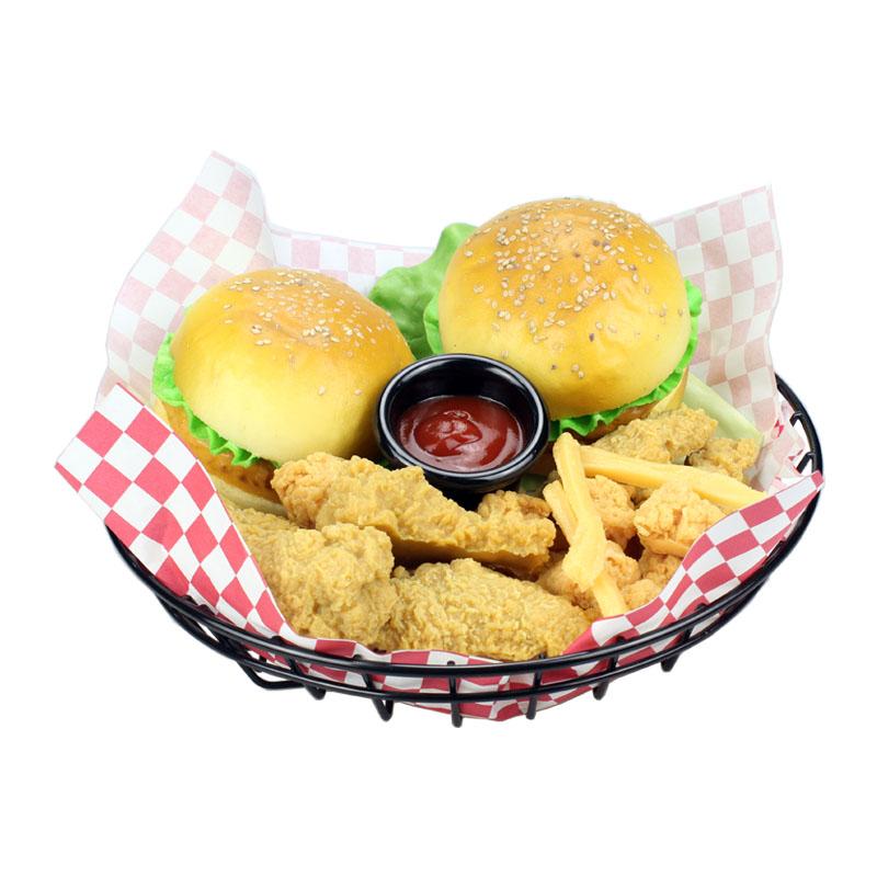 美式餐厅咖啡店酒吧小吃薯条炸篮炸框筐牛排餐餐盘酒店餐具面包篮