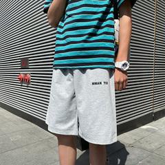 A129-K902 特价P35 控48 爆款夏季短裤男港风小雏菊宽松五分中裤