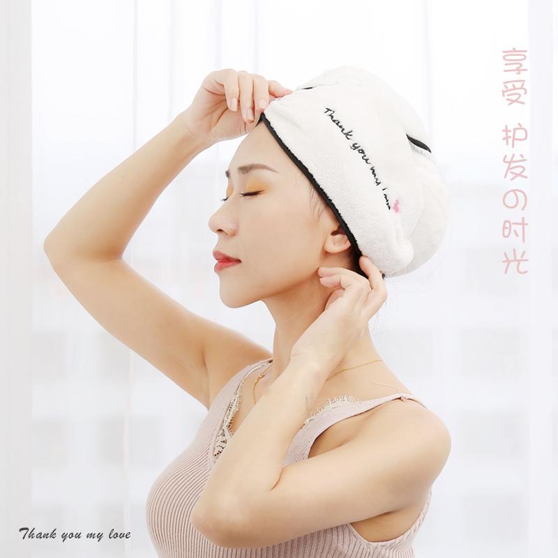 干发帽女超强吸水洗头发的速干毛巾抖音擦头发浴帽可爱护发干发巾