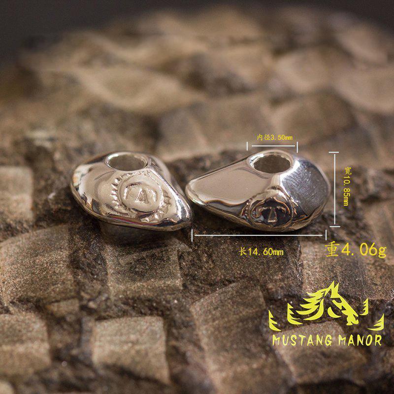 野马庄园手作高桥吾郎风格 鹰戳珠925银可过细角太阳石隔珠