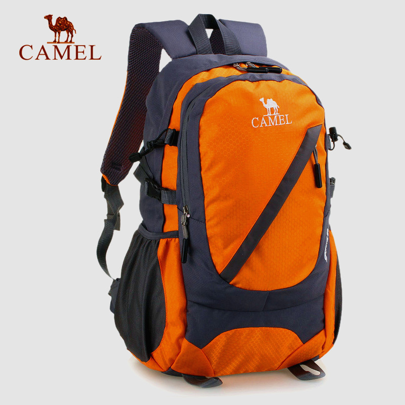 Camel outdoor hiking short distance travel outdoor backpack mountaineering bag mens and womens travel bag mountaineering bag 30L