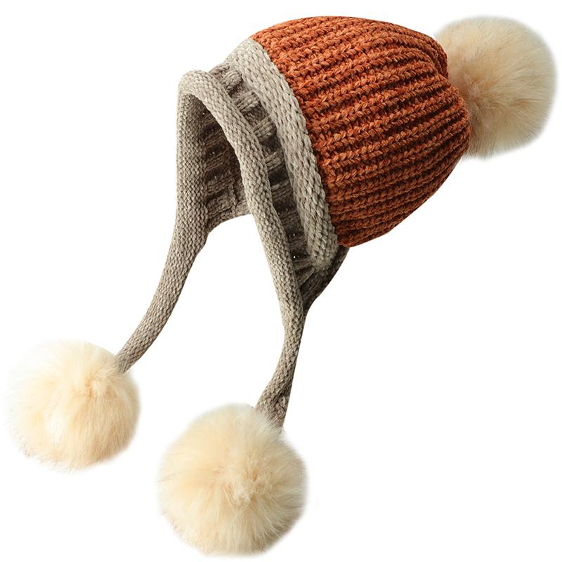 显白帽子女冬天韩国雪尼尔毛线雷锋帽加绒东北帽韩版加厚飞行帽潮