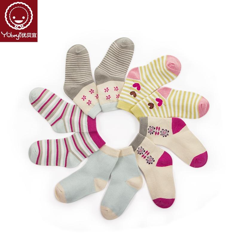 优贝宜儿童袜子男童女童短袜四季透气童袜宝宝中小童棉袜3-5-7岁