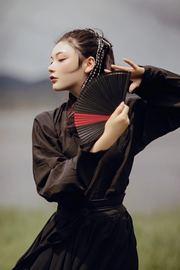 5寸女扇日式和风镂空中国风古风全竹扇子迷你小折扇子舞蹈扇表演