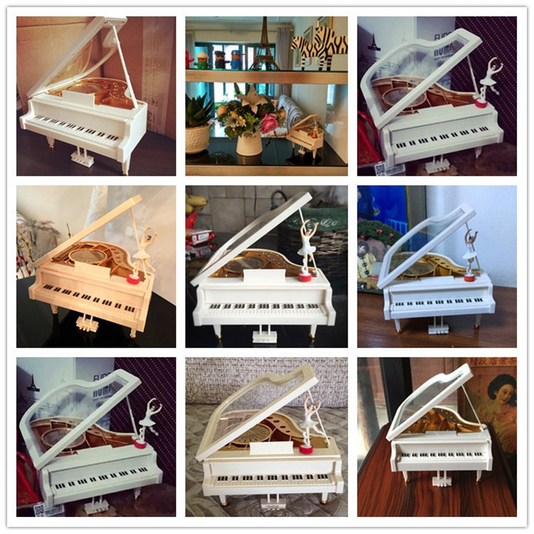 Sky city piano music box birthday gift for girl girlfriend dance ballet girl eight sound box creativity