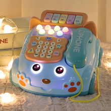 Infant and child toy simulation telephone set 6 male baby music education 0-1 years old 10 months 7 girls 8
