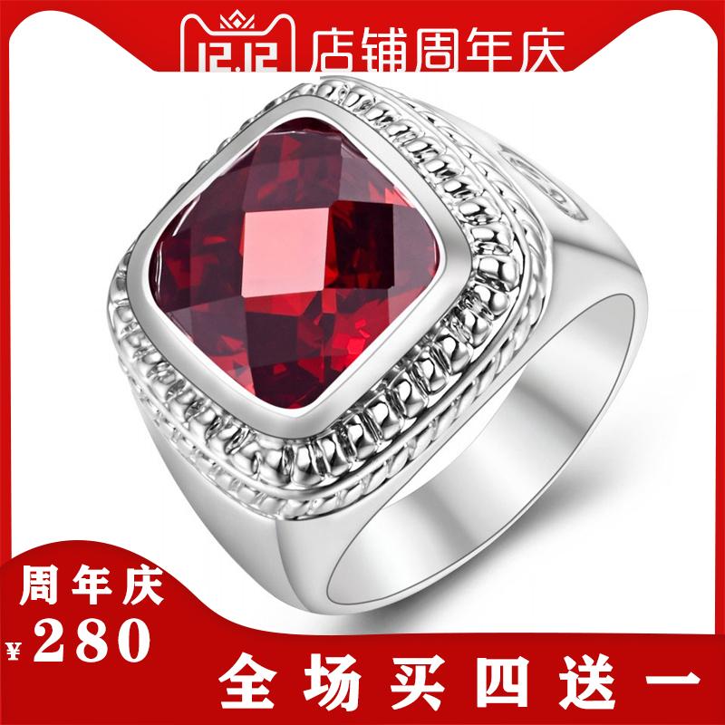 复古欧美个性时尚夸张戒指女手饰气质彩色指环人工锆石饰品配饰潮