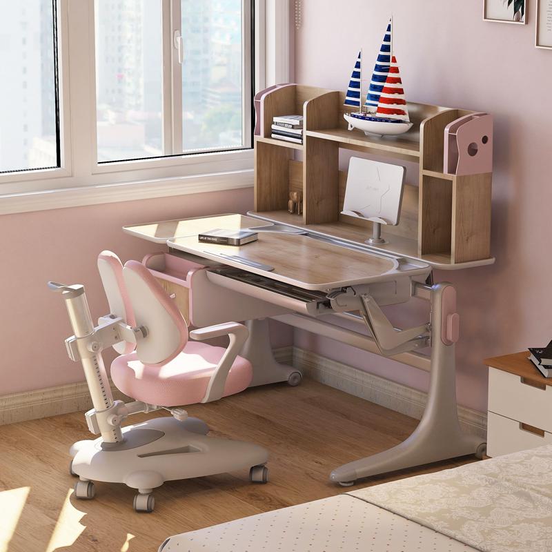 法兰芭比好学童学习桌实木写字桌椅
