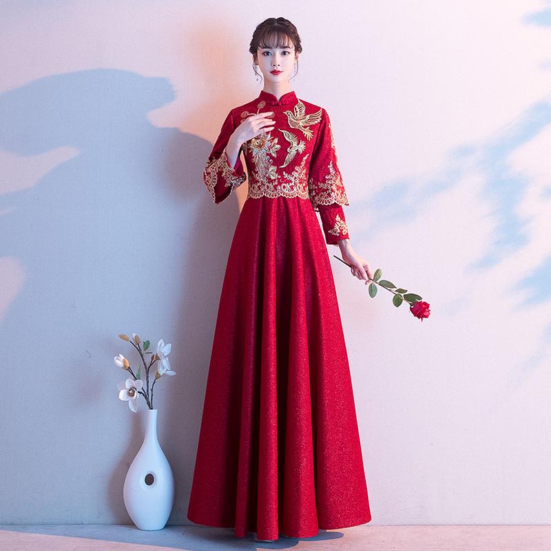 新娘2020新款冬季秀禾服结婚晚礼服