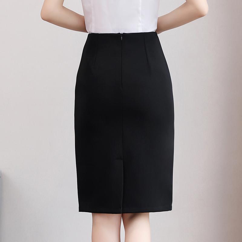 春夏正装工作面试包臀中长款一步裙限2000张券