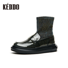 Keddo Spring 2019 New Flash Cloth PVC Shoes, Socks, Boots, Flat Bottom Sports Shoes and Tidal Boots