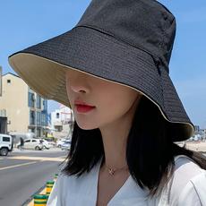 日系双面防晒渔夫帽