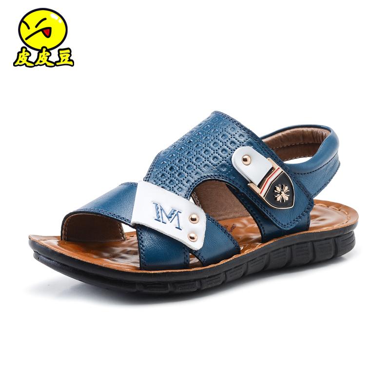 童鞋男童涼鞋真皮2016 兒童涼鞋男寶寶中大童沙灘鞋 潮