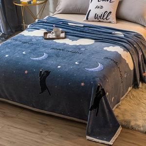 毛绒垫床单单件珊瑚绒毯子保暖被子