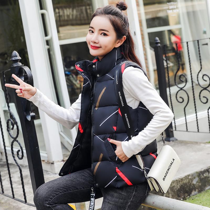 2018新款小马甲女秋冬装韩版短款黑色羽绒棉衣服白色学生背心外套