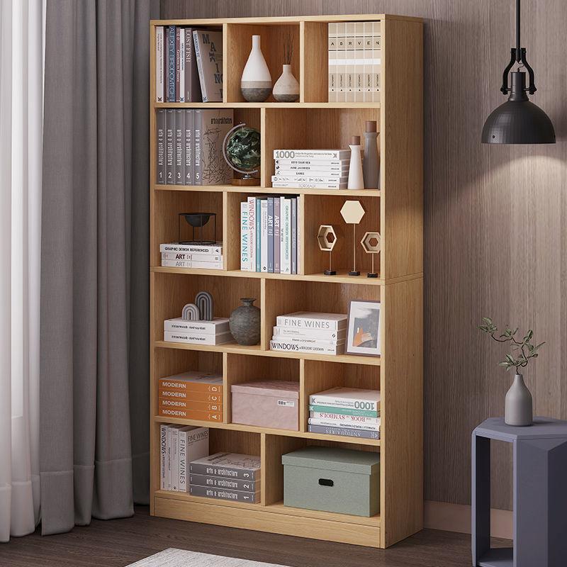 书架落地家用置物架简易客厅简约墙角书柜多功能储物柜小架子