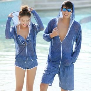 情侣泳衣2018新款泳装韩国套装海边度假游泳衣沙滩男女性感泡温泉
