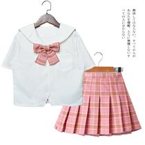 女童短袖水手服套装日系风格小学生JK制服夏季新款儿童班服演出服
