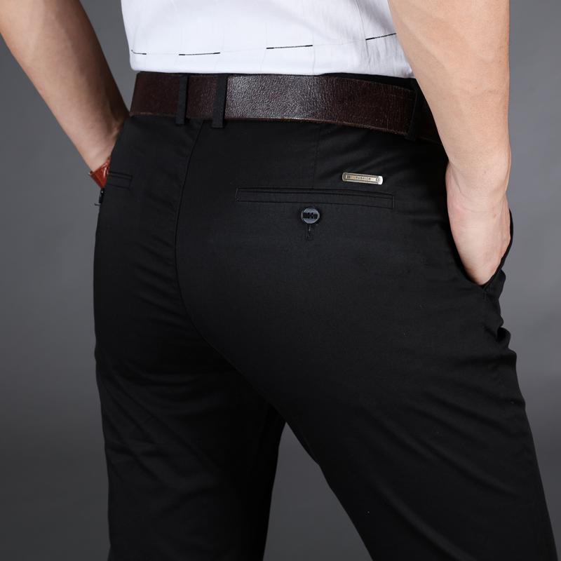 夏季青年休闲裤男装弹力加肥加大码运动裤肥佬胖子弹性修身西裤子
