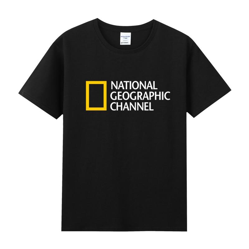 National Geographic国家地理杂志周边印花衣服纯棉圆领短袖T恤男