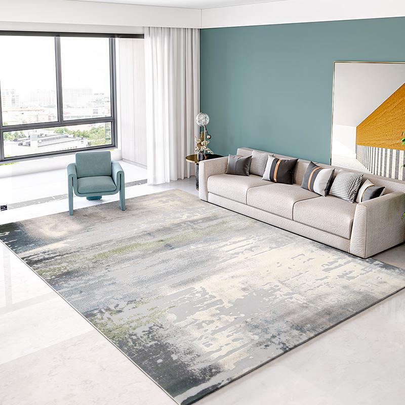 现代客厅简约轻奢卧室家用床边地毯好用吗
