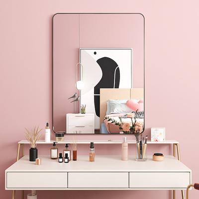 化妆镜子贴片壁挂家用小型女生卧室梳妆台美妆大号挂墙学生卫生间