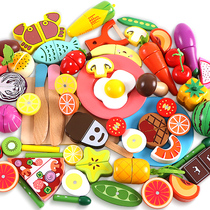 Children cut fruit artifact toy wooden full set of magnetic baby simulation fruit vegetable toy Set Baby