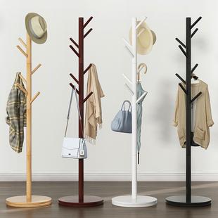 实木衣帽架落地挂衣架柜子简易卧室家用衣服包置物简约现代品牌