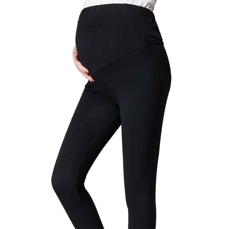 孕婦褲 外穿黑色長褲托腹孕婦打底褲秋 純棉保暖孕婦裝秋裝