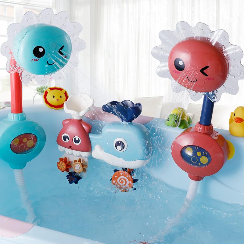 宝宝洗澡玩具戏水小黄鸭玩水花洒11月30日最新优惠
