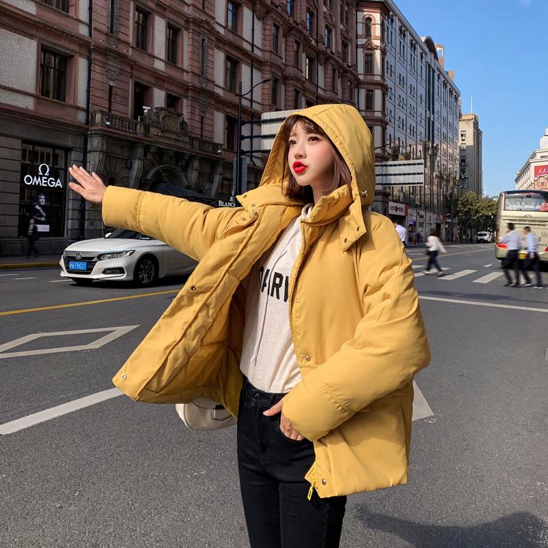實拍2019秋季韓國東大門羽絨服女短款學生bf棉衣面包服網紅